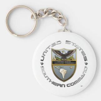 Comando meridional de los E.E.U.U. Llavero Redondo Tipo Pin