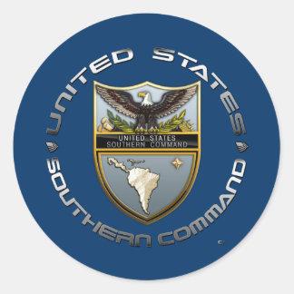 Comando meridional de los E.E.U.U. Pegatina Redonda