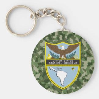 Comando meridional del ejército llavero redondo tipo pin