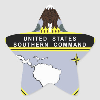 Comando meridional pegatina en forma de estrella