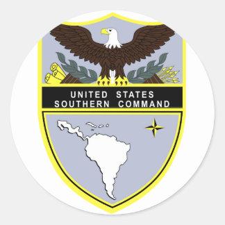 Comando meridional pegatina redonda