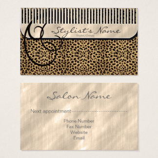 Comb and Curls Leopard ID319 Business Card