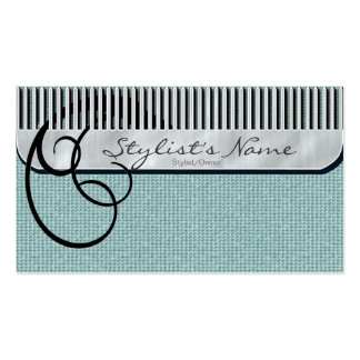Comb and Curls Mint Green Double-Sided Standard Business Cards (Pack Of 100)