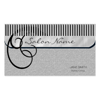 Comb and Curls Silver Business Card