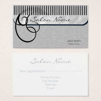 Comb and Curls Silver ID319 Business Card