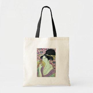Comb by Kitagawa, Utamaro Ukiyoe Bags