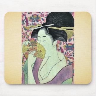 Comb by Kitagawa, Utamaro Ukiyoe Mousepad