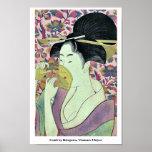 Comb by Kitagawa, Utamaro Ukiyoe Poster