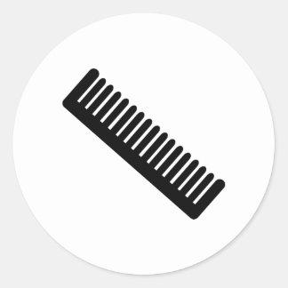 Comb Classic Round Sticker