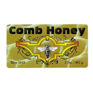 """""""Comb Honey"""" Jar Label"""