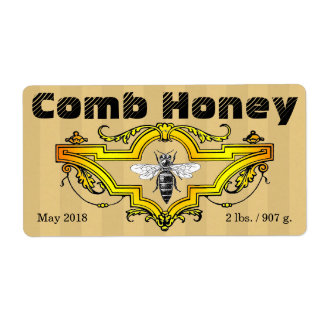 Comb Honey Strpes Label Shipping Label