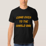COMB OVER TO THE DONALD SIDE Mens Black TShirt