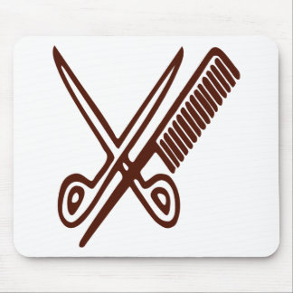 Comb & Scissors - Hairdresser Mouse Pad