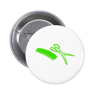 Comb & Scissors - Hairdresser Pinback Button