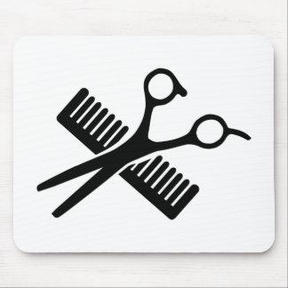 Comb & Scissors Mouse Pad