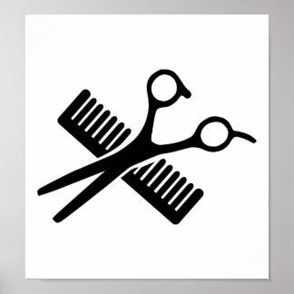 Comb & Scissors Poster