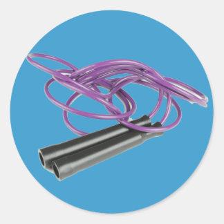 Comba púrpura pegatina redonda