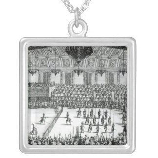 Combat a la Barriere Silver Plated Necklace