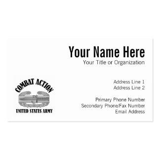 Combat Action Badge Business Card Templates