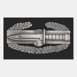 Combat Action Badge Rectangular Sticker