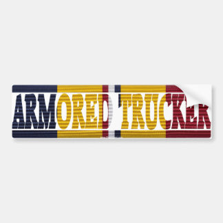 Combat Action Ribbon ARMORED TRUCKER Sticker