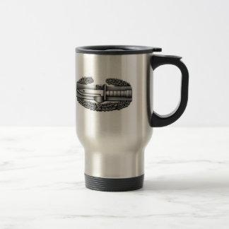 combat badge, IRAQ SERVICE, COMBAT VET! 15 Oz Stainless Steel Travel Mug