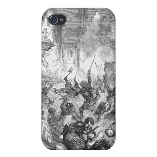 Combat between English and French Knights Case For iPhone 4