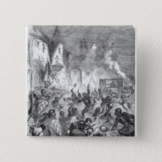 Combat between English and French Knights Pinback Button
