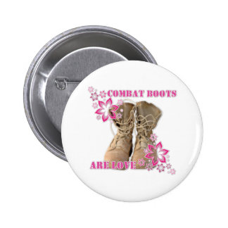 combat boots are love 2 inch round button