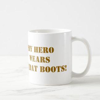 combat boots, classic white coffee mug