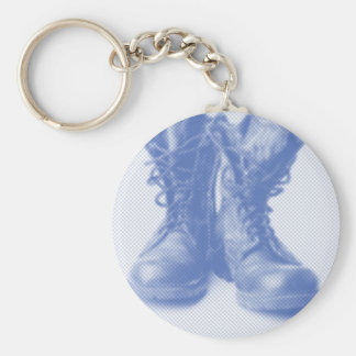 Combat Boots Military Troops Patriotic Peace Keychain