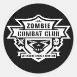 Combat Club Tag Classic Round Sticker