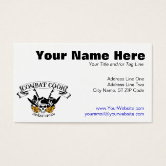 Combat Cook - Desert Storm Business Card