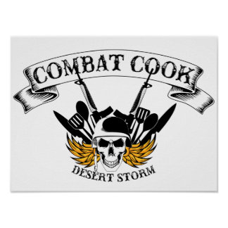 Combat Cook - Desert Storm Poster