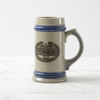 Combat Field Medical Badge (CFMB) Beer Stein