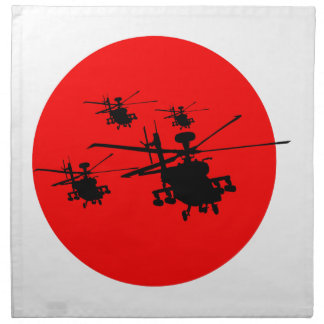Combat helicopter combat more helicopter cloth napkin