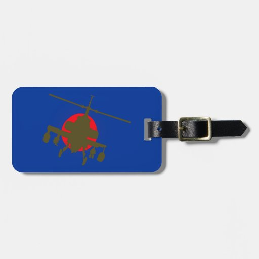 Combat helicopter fighting more helicopter tag for bags