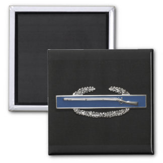 Combat Infantry Badge 2 Inch Square Magnet