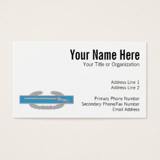 Combat Infantry Badge Business Card
