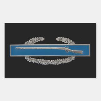 Combat Infantry Badge (CIB) Rectangular Sticker