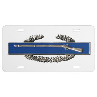 COMBAT INFANTRY BADGE LICENSE PLATE