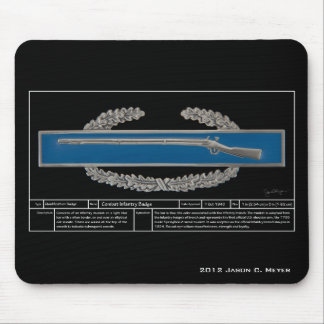 Combat Infantry Badge Technical Mouse Pad