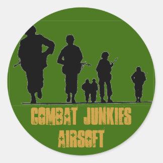 COMBAT JUNKIES AIRSOFT CLASSIC ROUND STICKER
