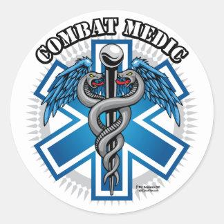 Combat Medic Classic Round Sticker