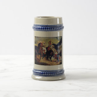 Combat of the Giaour and the Pasha by Delacroix Beer Stein