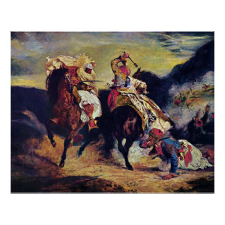 Combat of the Giaour and the Pasha by Delacroix Posters