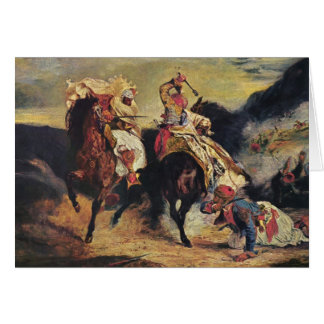 Combat of the Giaour and the Pasha Card