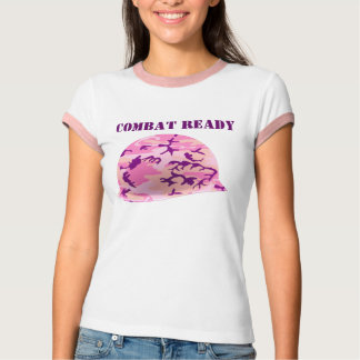 Combat Ready Pink Camouflage Helmet T-shirt