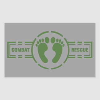 Combat Rescue Roundel Sticker | Green Feet