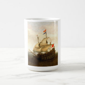 Combat sailboat coffee mug